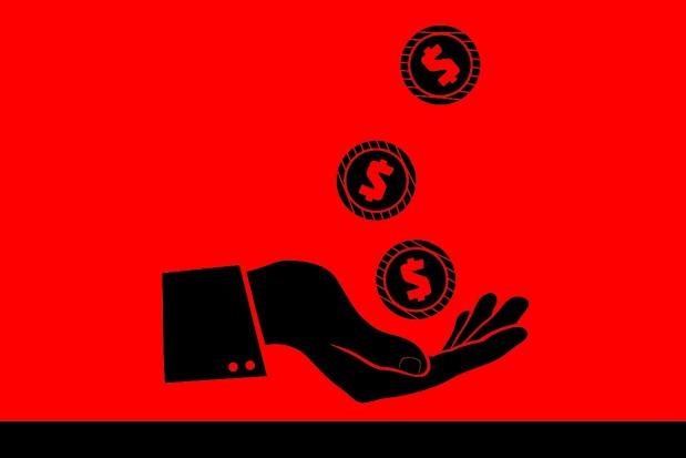 Money hand coins