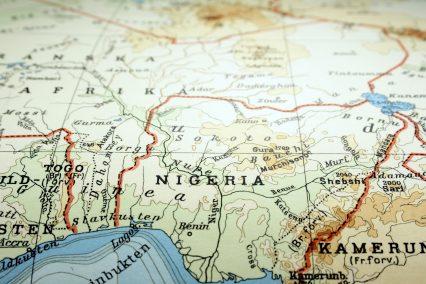 Nigeria map Lagos Africa