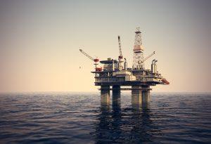 Oil platform sea rig