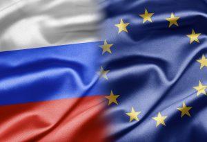Russia European Union flag silk
