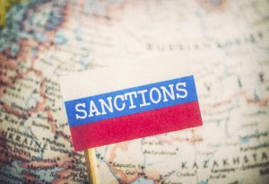 Russia map sanctions label