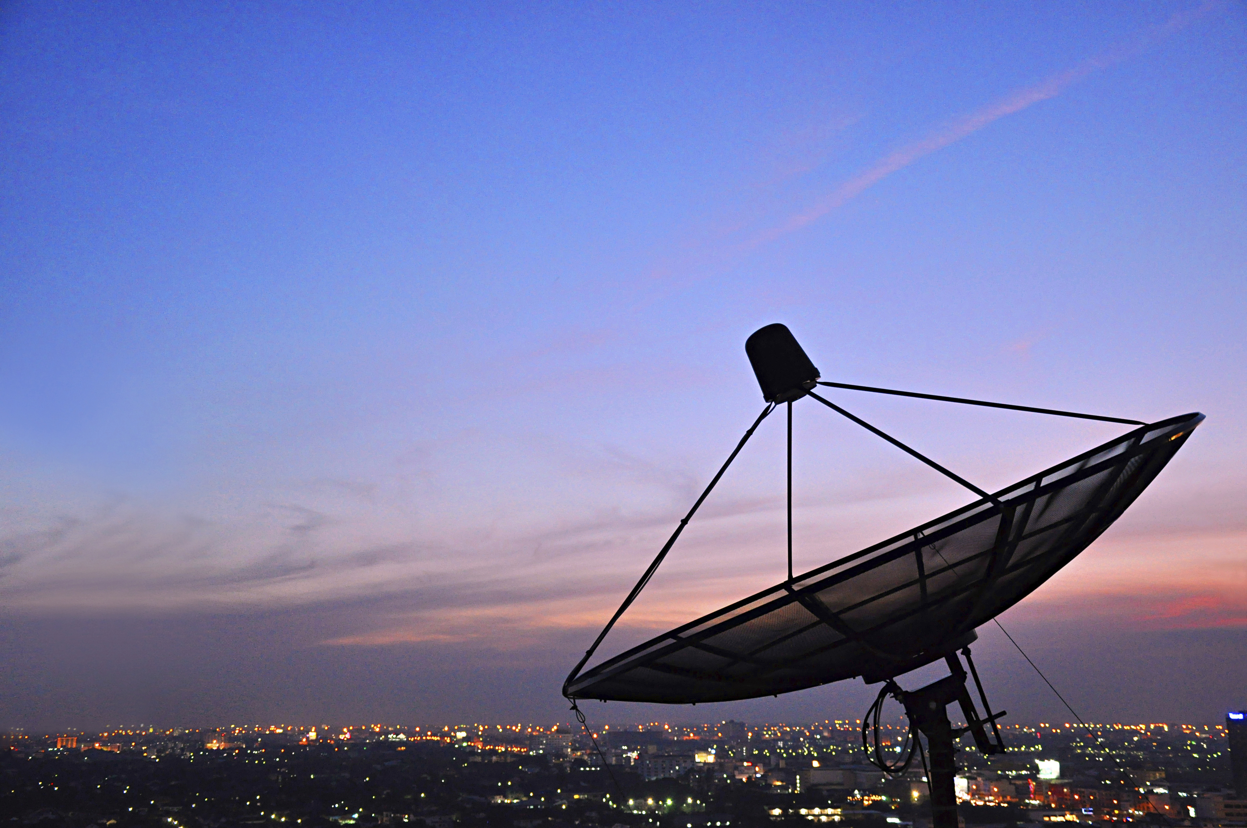 A Satellite Dish In Twilight Scene Global Trade Review Gtr