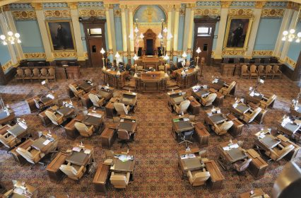 State senate chamber USA government