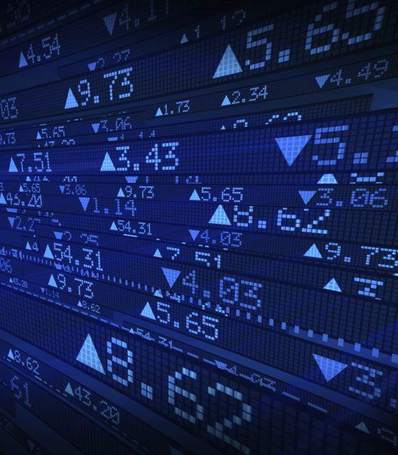 Stock exchange market digital data