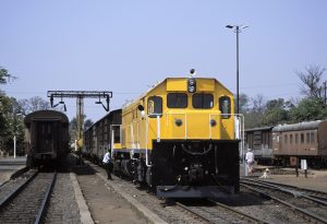 Victoria Falls Zimbabwe freight train