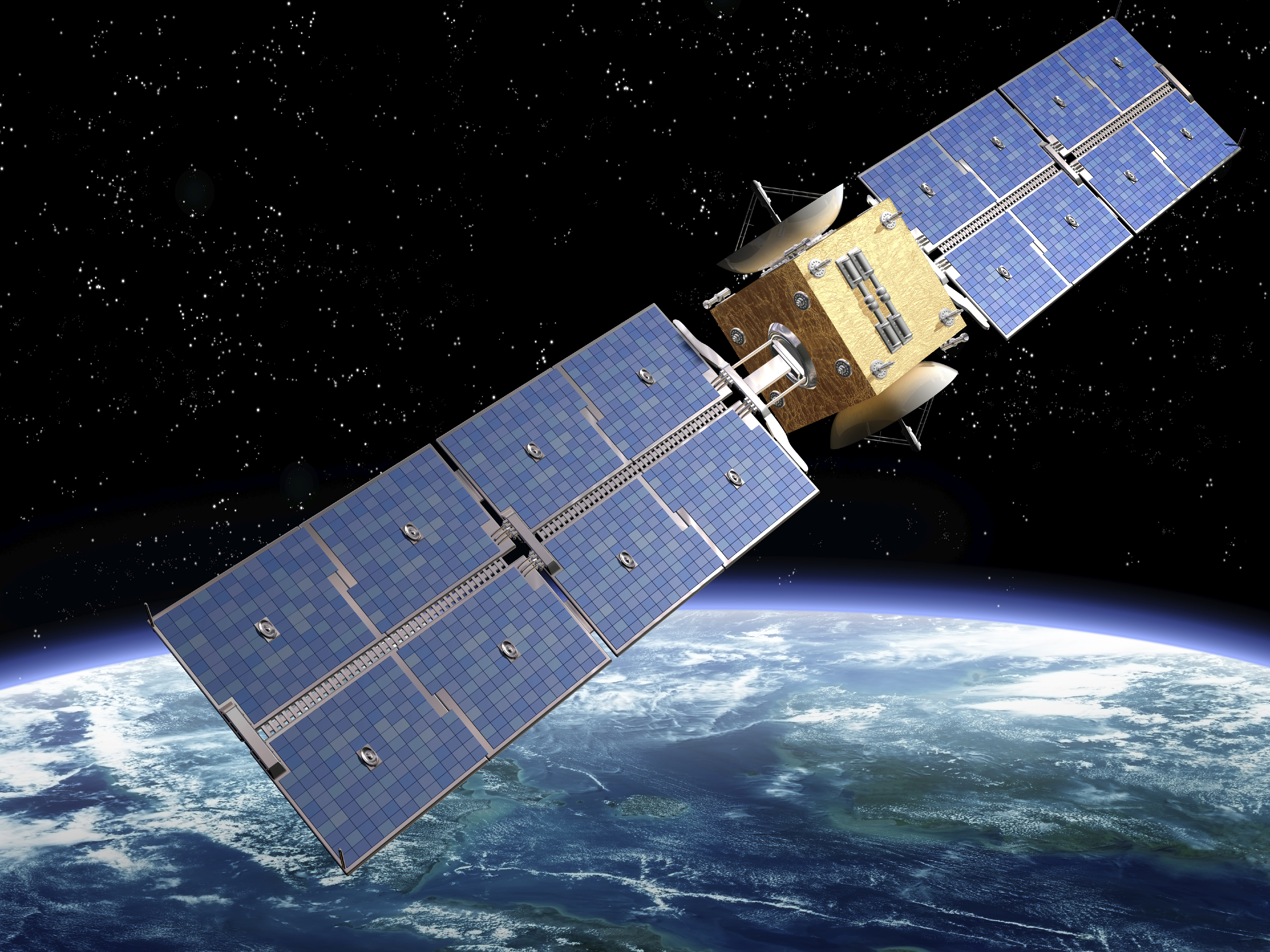 communication satellite orbiting earth global trade review gtr