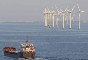 Copenhagen Windfarm Wind Turbines Ship