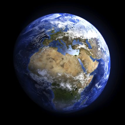Earth Space Europe Africa