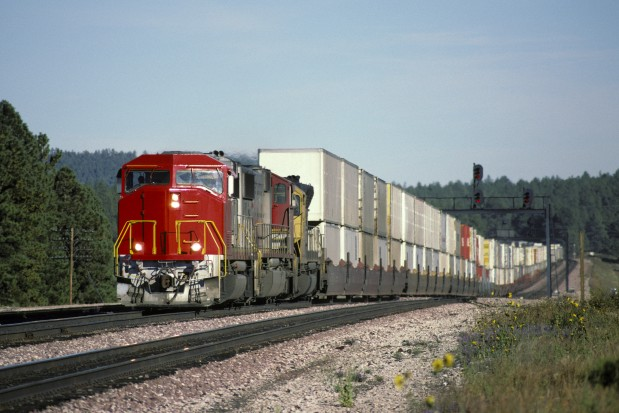 Freight Train Railroad Track