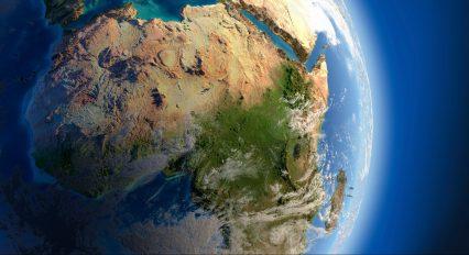 Globe-Earth-Space-Africa