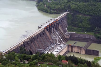 Hydroelectric Power Station Aerial View