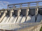 Hydroelectric Power Station Water Rushing Gates