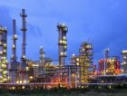 Oil Refinery Petrochemical plant Night
