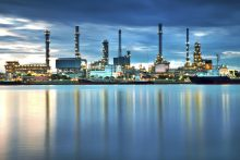 Oil refinery Reflection Water