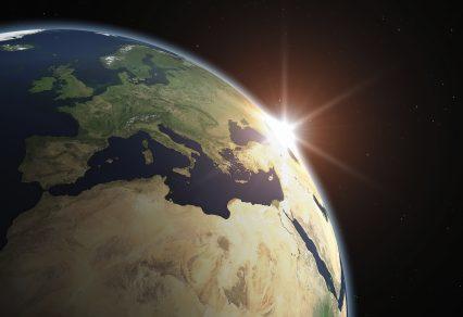 Planet Earth Europe Sunlight