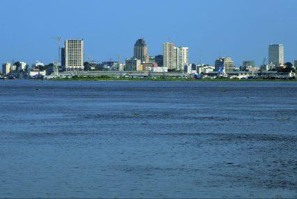 Kinshasa Republic Of The Congo River Crane