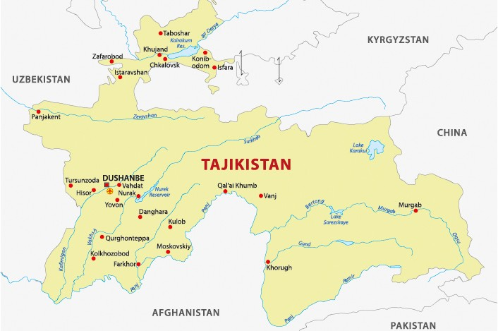 Tajikistan map Global Trade Review GTR