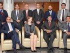 From left to right, sitting: Sunil Veetil, Nadya Talhouni, Maninder Bhandari, Anith Daniel; Standing: Saurabh Sharma, Haytham El Maayergi, Rahul Jayakar, Kersi Patel, Yusuf Ali Khan, Arup Roy