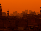 Egypt Cairo City Towers Sunset