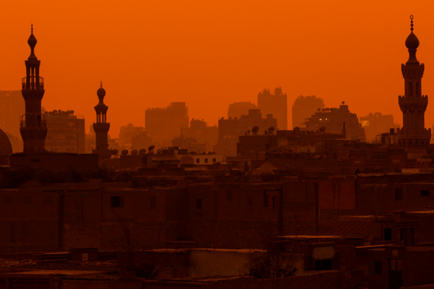 Egypt Cairo City Towers Sunset