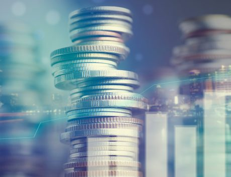 Currency-Data-Bitcoin-graph-city